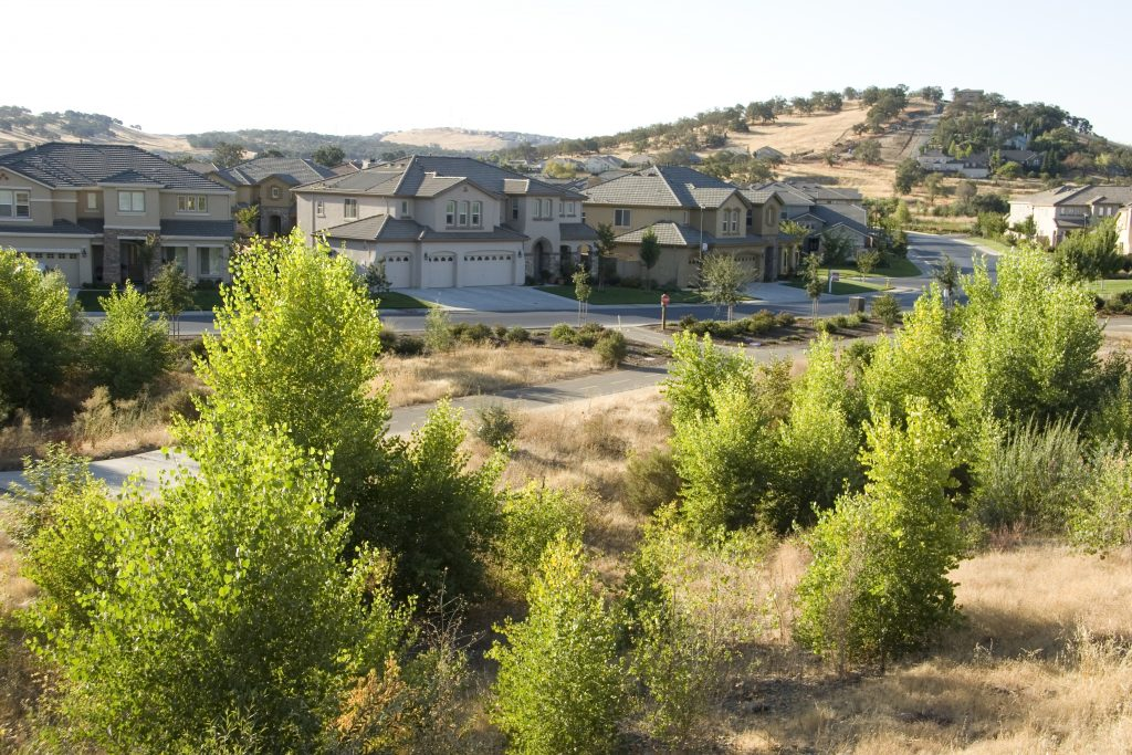 homes in Folsom, a suburban community just outside of Sacramento,